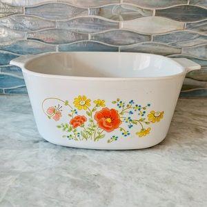 Vintage Corning Ware Wildflower Dutch Oven Dish
